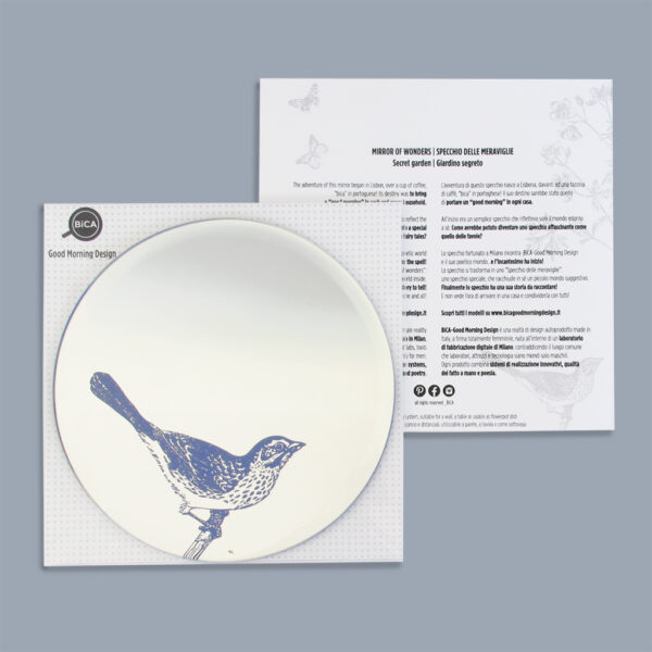 Bird Round Mirror packaging | BiCA-Good Morning Design