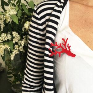 Spilla Corallo rosso specchiante | Spilla Estiva | BiCA-Good Morning Design