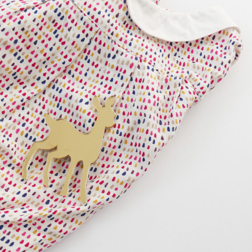 Bambi brooch on shirt | Spilla Bambi | BiCA-Good Morning Design