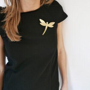 Spilla Libellula oro specchiante | Spille Animali | BiCA-Good Morning Design