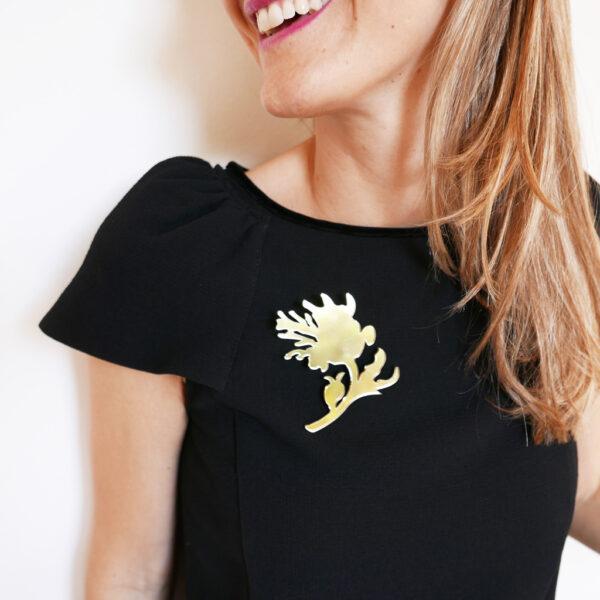 Spilla Peonia oro specchiante | BiCA-Good Morning Design