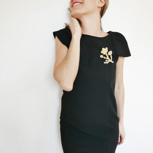 Spilla floreale Ranuncolo oro specchiante | BiCA-Good Morning Design