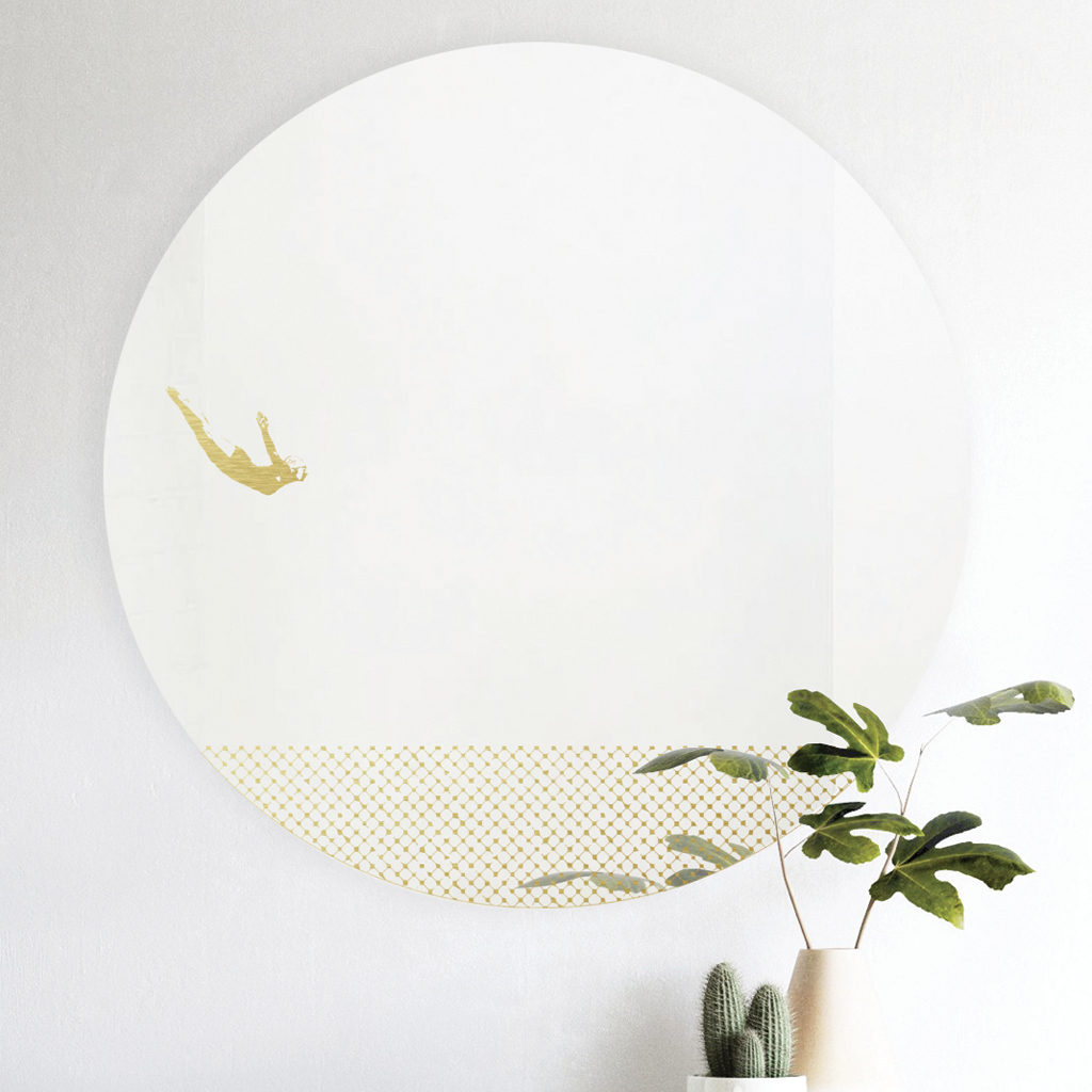 Grand pic | round mirror 60 cm | Female |BiCA-Good Morning Design