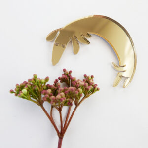 Basset brooch with flowers | Spilla Bassotto | BiCA-Good Morning Design