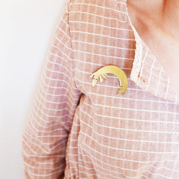Spilla Bassotto oro | Spille Cani e animali | BiCA-Good Morning Design