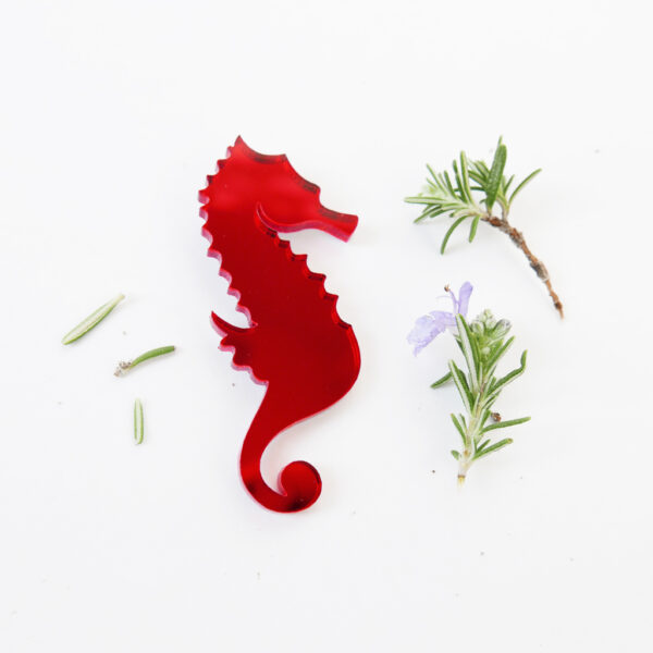 Hippocampus brooch detail | Spilla cavalluccio marino | BiCA-Good Morning Design