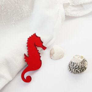Hippocampus brooch | Spilla cavalluccio marino | BiCA-Good Morning Design