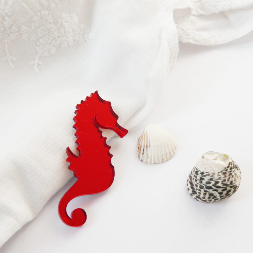 Hippocampus brooch | Spilla cavalluccio marino | BiCA-Good Morning Design