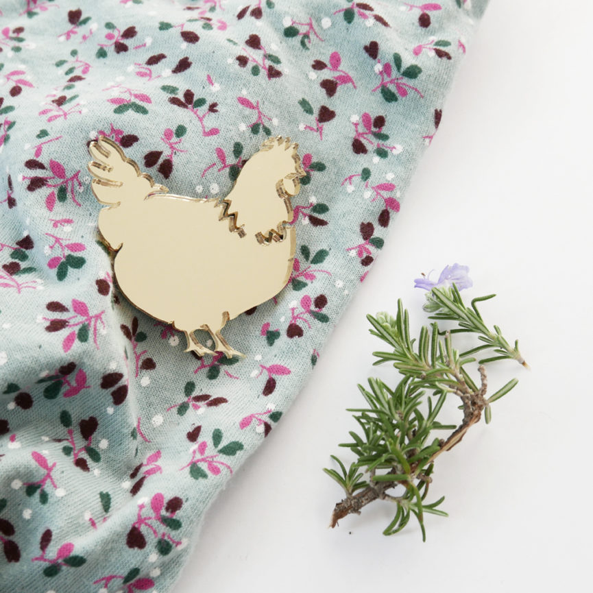 Chicken brooch | Spilla Gallinella | BiCA-Good Morning Design