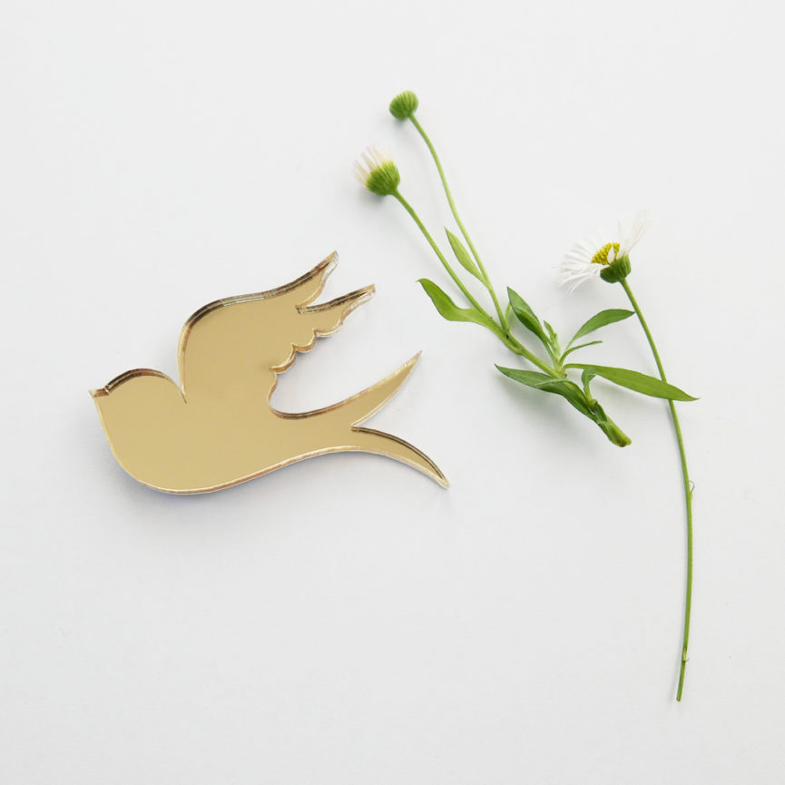 Swallow brooch | Spilla Rondine | BiCA-Good Morning Design
