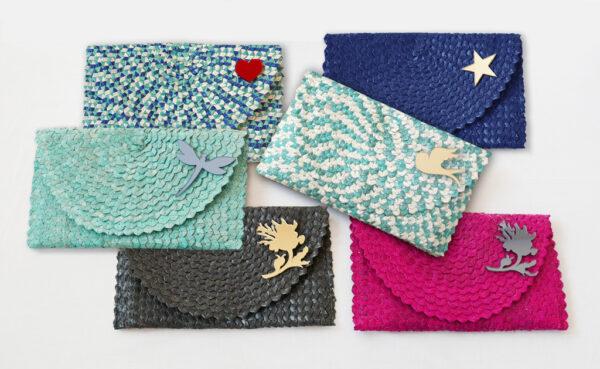 Borsette clutch in paglia intrecciata | borse paglia | BICA-Good Morning Design