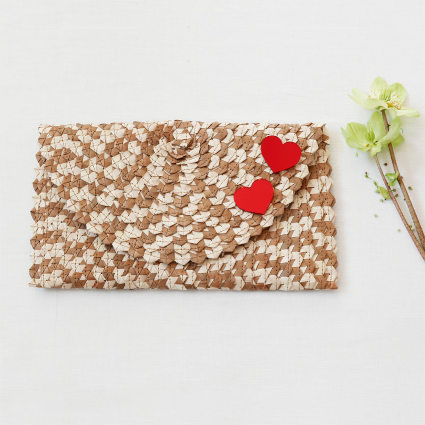 Straw Clutch Bag | Mix Light Brown | BiCA-Good Morning Design