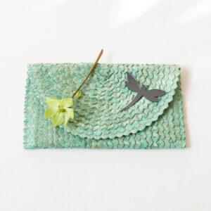 Straw Clutch Bag | Turquoise | BiCA-Good Morning Design