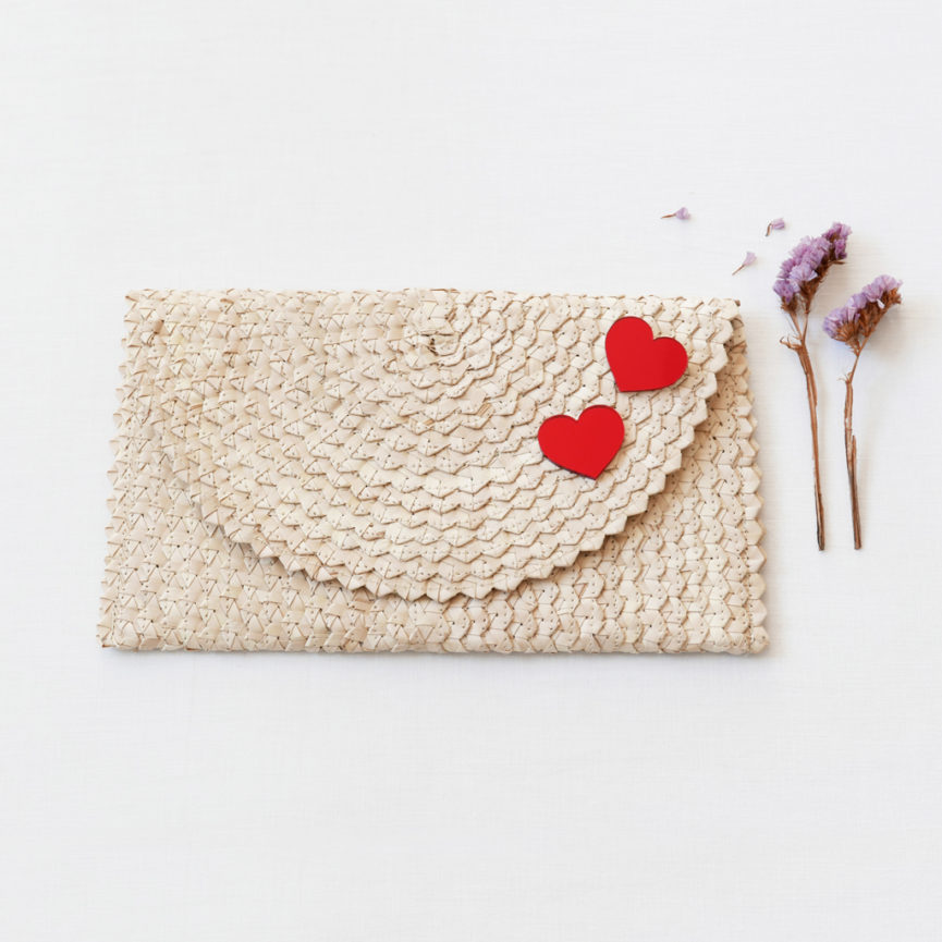 Straw Clutch Bag | White | BiCA-Good Morning Design