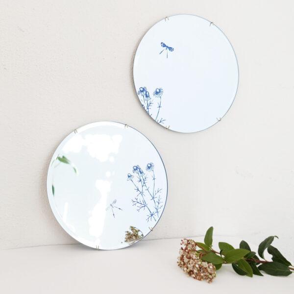 Specchi tondi Camomilla   Specchi floreali di design   BiCA-Good Morning Design