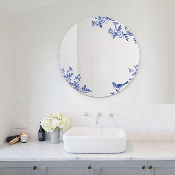 Jasminum | Grande Specchio tondo blu | BiCA-Good Morning Design