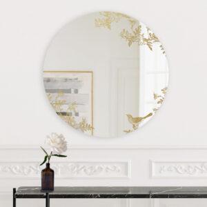 Jasminum | Grande Specchio tondo oro | BiCA-Good Morning Design