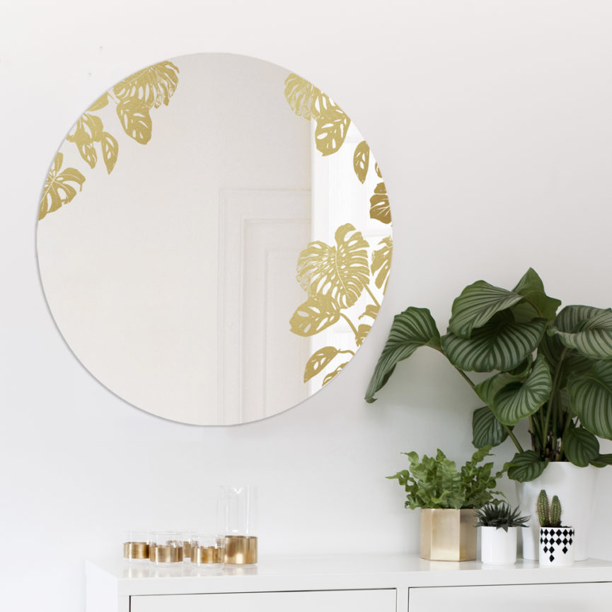 MONSTERA | Big Round Mirror | BiCA-Good Morning Design