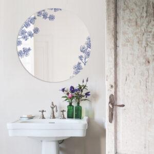 Prunus | Grande Specchio tondo blu | BiCA-Good Morning Design
