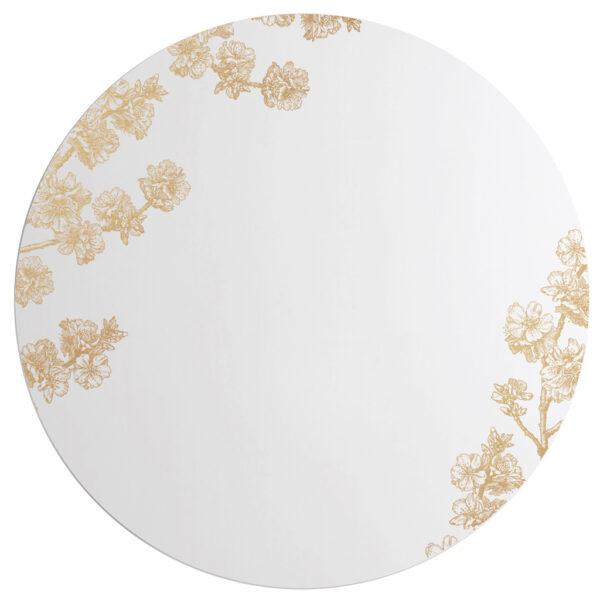 Prunus   Grande Specchio tondo oro   BiCA-Good Morning Design
