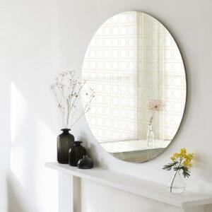Paglia di Vienna | Specchio tondo grande | BiCA-Good Morning Design