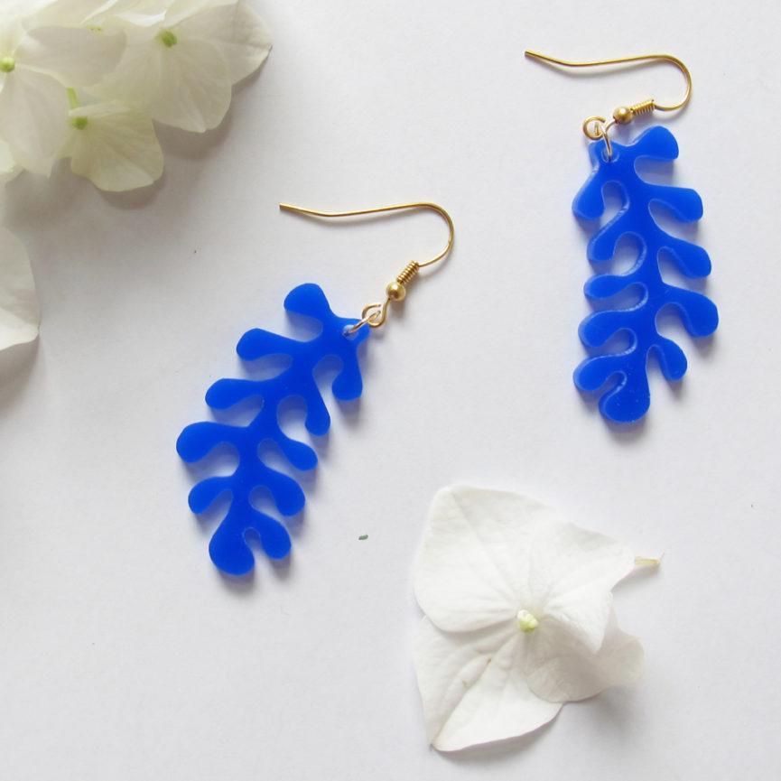 Orecchini pendenti corallo blu   Gioielli   Bica-Good Morning Design