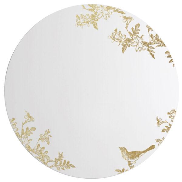 Jasminum   Grande Specchio tondo oro   BiCA-Good Morning Design