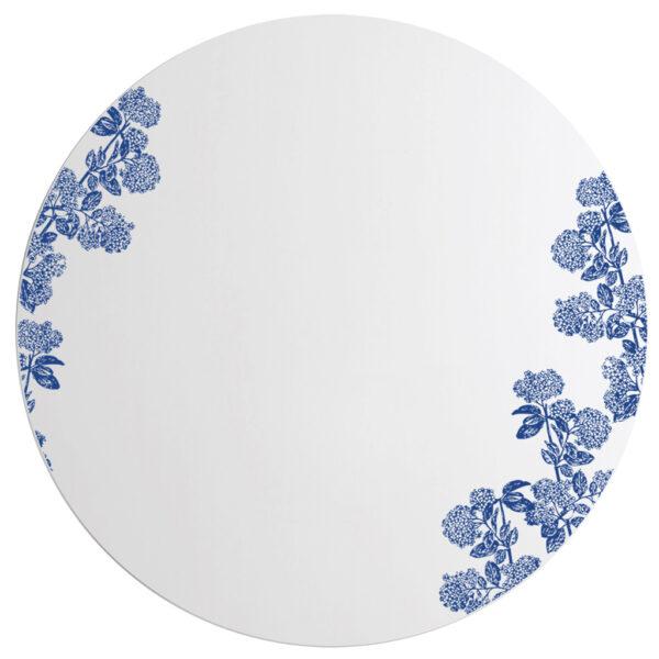 Viburnum blu | Specchio tondo 60 cm | BiCA-Good Morning Design