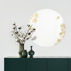 Thapsia oro | Specchio tondo 60 cm | BiCA-Good Morning Design