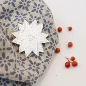 Spilla Stella Alpina | BiCA-Good Morning Design