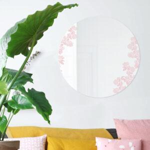 Specchio Viburnum rosa   Specchio tondo 60 cm   BiCA-Good Morning Design