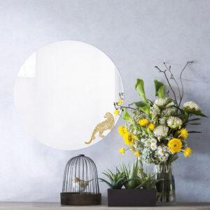 Specchio rotondo grande di design | LEOPARDO | Animalia round mirrors | BiCA-Good Morning Design