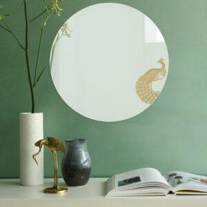Specchio tondo grande di design | PAVONE | Animalia round mirrors | BiCA-Good Morning Design