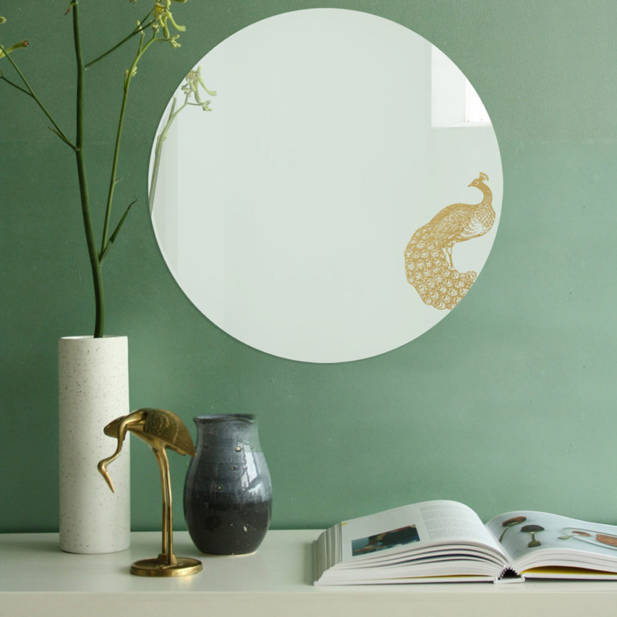 Specchio tondo grande di design | PAVONE | Animalia round mirrors | BiCA-Good Morning Design