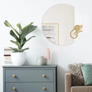 Specchio rotondo grande di design | SCIMMIA | Animalia round mirrors | BiCA-Good Morning Design