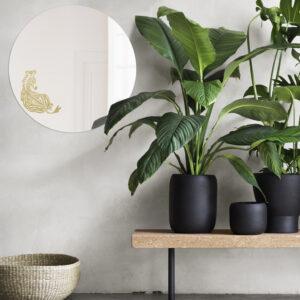 Specchio tondo grande di design | ZEBRA | Animalia round mirrors | BiCA-Good Morning Design