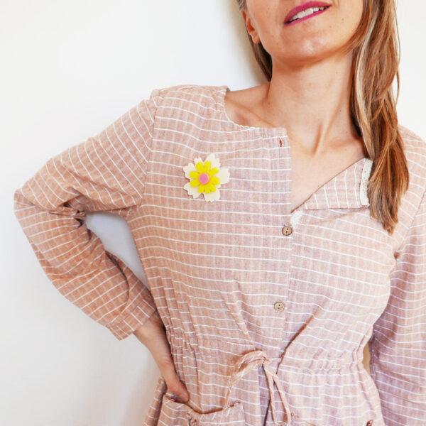 Spilla fiore Anemone avorio | Spille floreali | BiCA-Good Morning Design