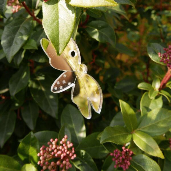 Lucciole decorative per piante in vaso | specchi spaventapasseri per piante e fiori in specchio argento | BiCA-Good Morning Design