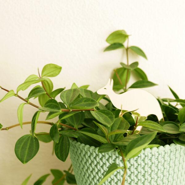 CANGURO. Animali esotici per piante in vaso | decorazioni per piante in acrilico oro | BiCA-Good Morning Design