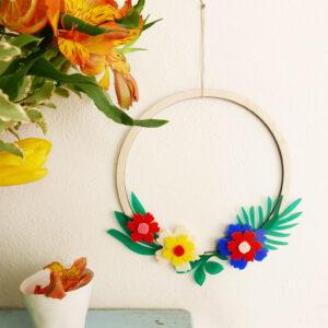 Ghirlanda floreale tropicale | ghirlanda colorata funky aloha | BiCA-Good Morning Design