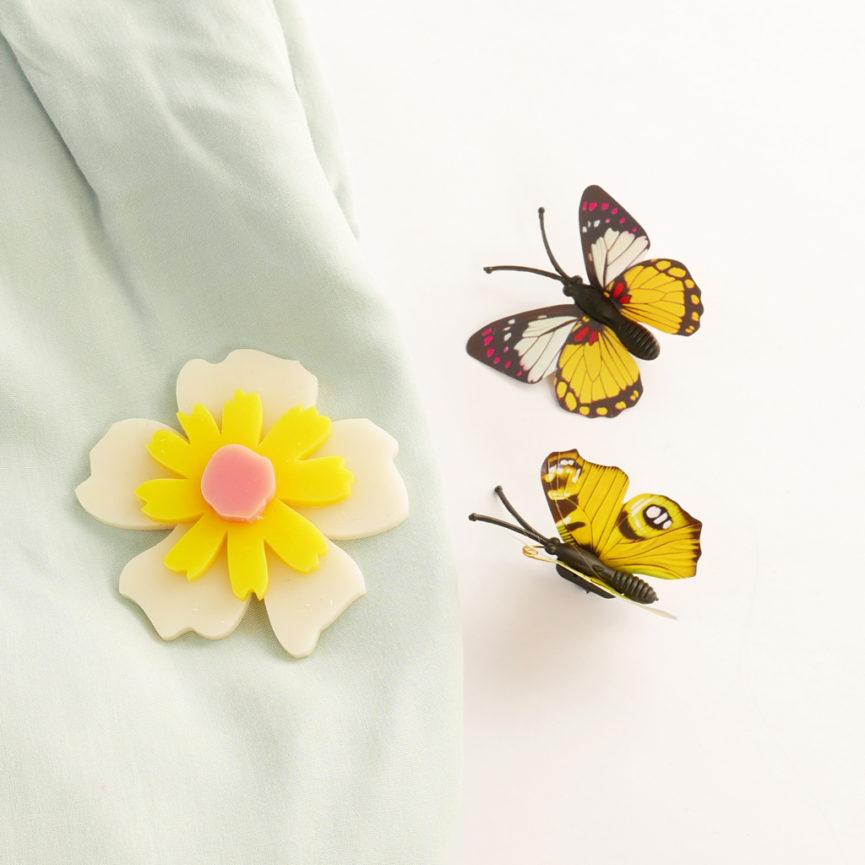 Spilla floreale Anemone Avorio| spilla fiore acrilico colorata | BiCA-Good Morning Design
