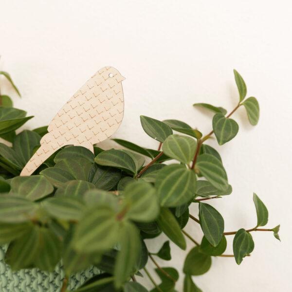 Uccellini legno per piante in vaso   Etichette e decorazioni per piante     BiCA-Good Morning Design