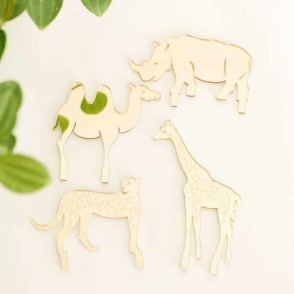 Animali esotici per piante in vaso | decorazioni per piante in acrilico oro | BiCA-Good Morning Design