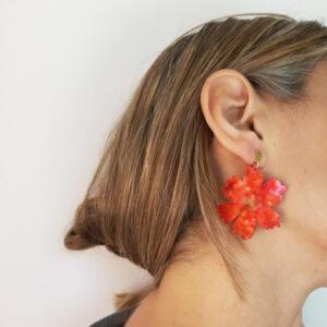 orecchini floreali Anemone rosso | BiCA-Good Morning Design