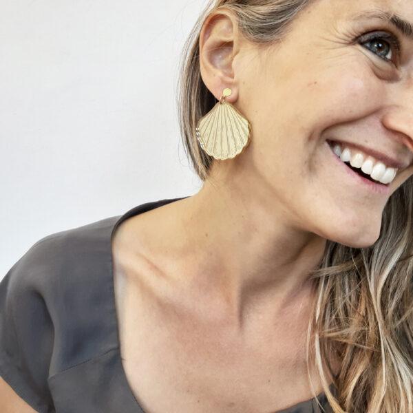 orecchini pendenti conchiglia oro | Serena | BiCA-Good Morning Design