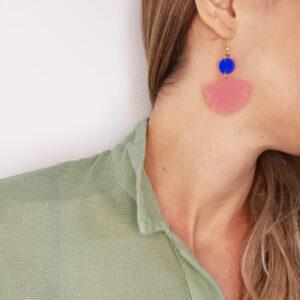 orecchini pendenti Ninfa rosa e blu | BiCA-Good Morning Design