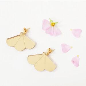 Fan orecchini a ventaglio oro | BiCA-Good Morning Design