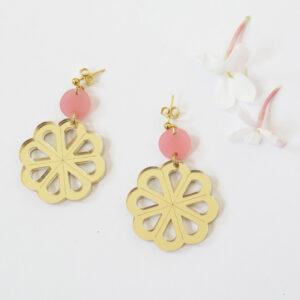 Taranta orecchini pendenti rosa e oro | BiCA-Good Morning Design