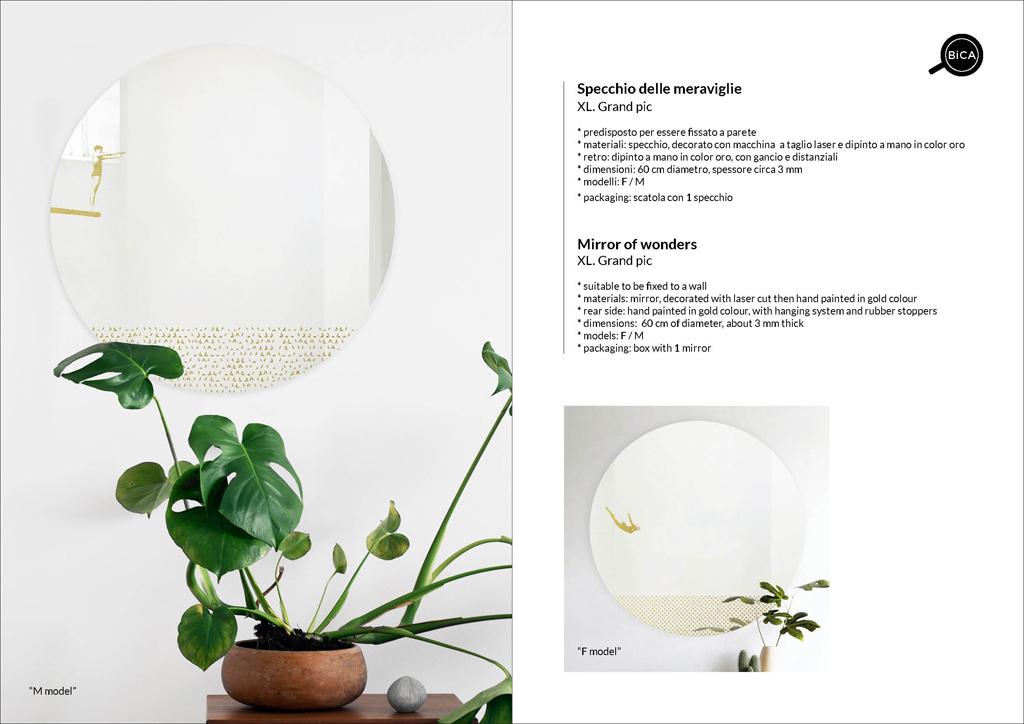 Grand Pic | specchio tondo decorato di design italiano | specchi senza cornice | BiCA-Good Morning Design