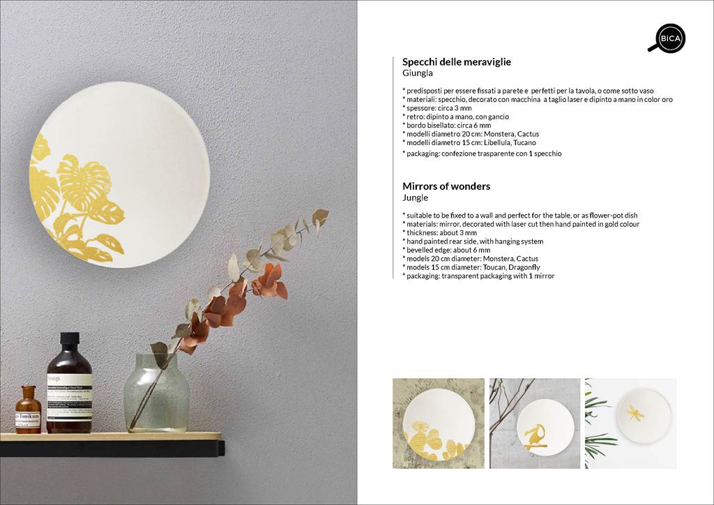 Specchi tondi Giungla | specchio tondo decorato di design italiano | specchi decorati  | BiCA-Good Morning Design
